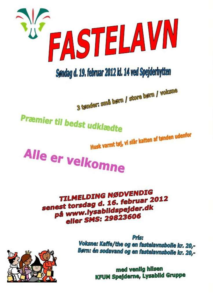 fastelavn invitation skabelon